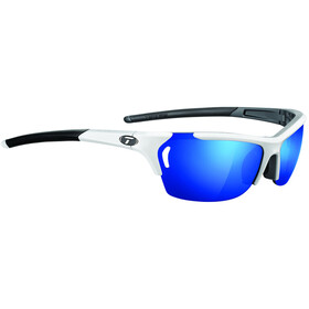 Tifosi Radius Glasses white/gunmetal - clarion blue/AC red/clear
